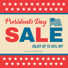 President's Day Patriotic Sale Advert Online Instagram Post template