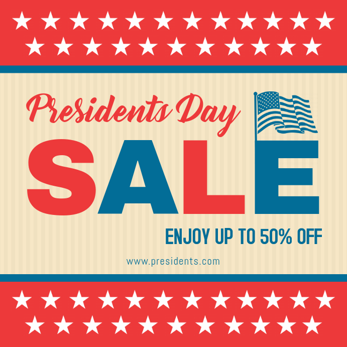 President's Day Patriotic Sale Advert Online