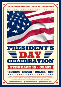PRESIDENT'S DAY POSTER A4 template