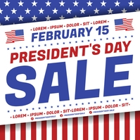 PRESIDENT'S DAY SALE BANNER Instagram na Post template