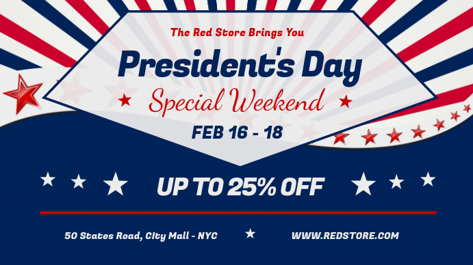 President's Day Sale Digital Display Image template