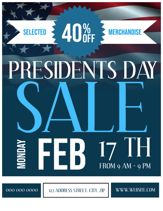 President's Day Sale Event Flyer Template