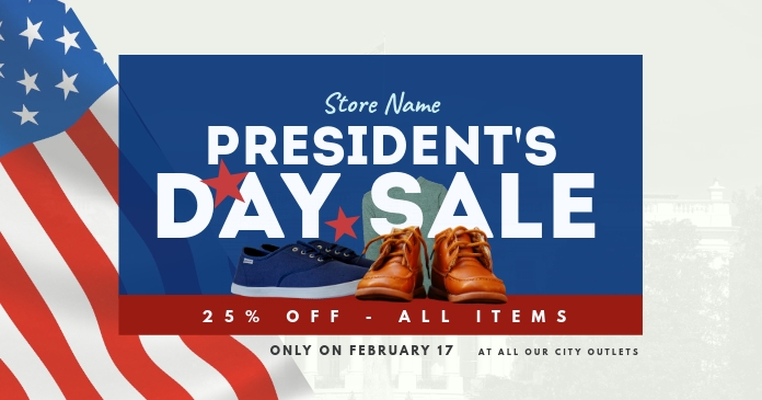 President's Day Sale Facebook Shared Image