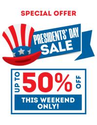 President's Day Sale Flyer
