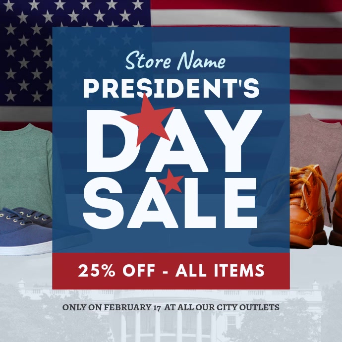 President's Day Sale Instagram Post template