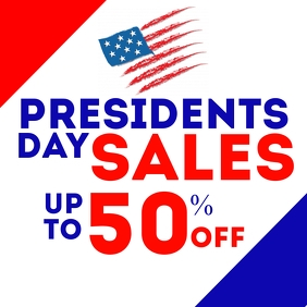 President's day sales advertisement Сообщение Instagram template