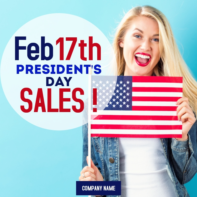 President's day sales advertisement for insta