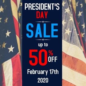 President's Day sales advertisement Instagram