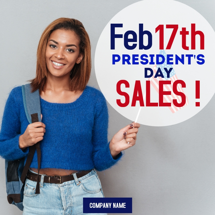 President's day sales advertisement instagram template