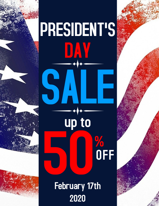 President's Day sales flyer advertisement template