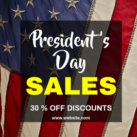 President's day sales instagram post advertis