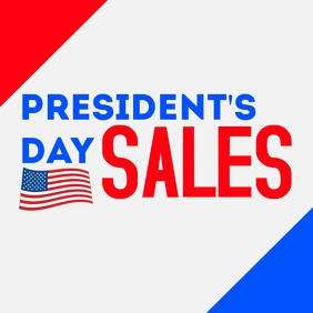President's day sales instagram post advertis template