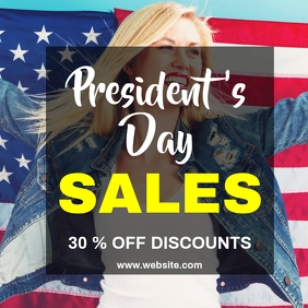 President's day sales instagram post