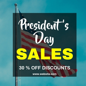 President's day sales instagram post