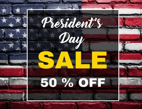 President's day sales flyer