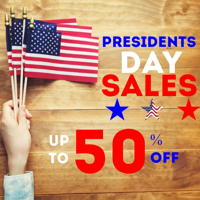 president's day sales up to 50% off