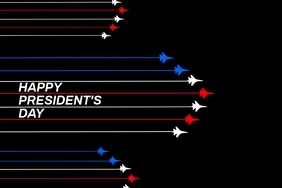 President's day template Póster