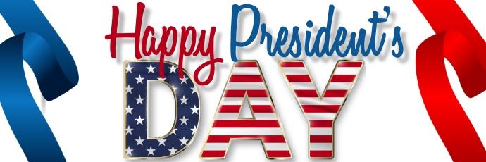 President's Day Template ส่วนหัว Twitter