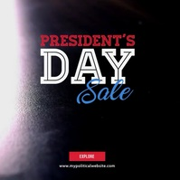 President's Day Video Ad Pochette d'album template