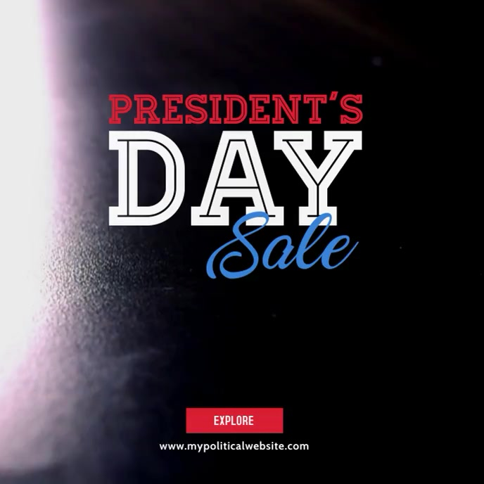 President's Day Video Ad Albumhoes template