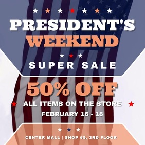 President's Day Weekend Sale Square Video