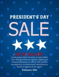 President's Sale Flyer (format US Letter) template