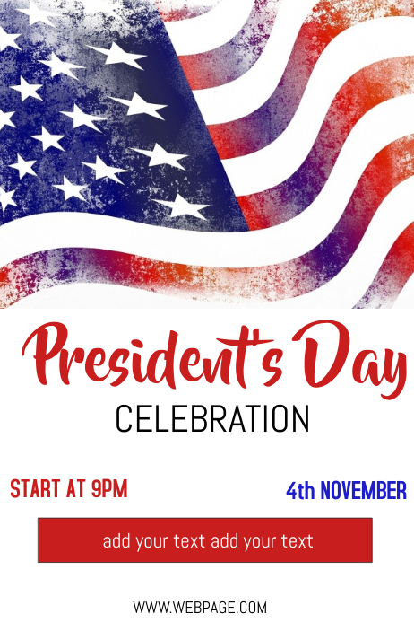 President's day flyer template Poster