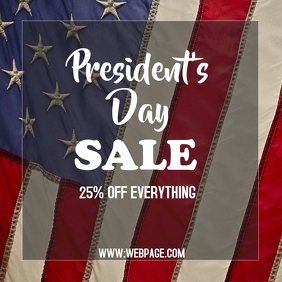 President's day sale instagram post templat