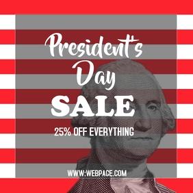 President's day sale instagram post templat