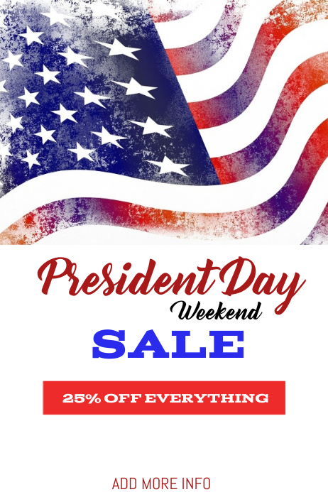 President's day sale template flyer