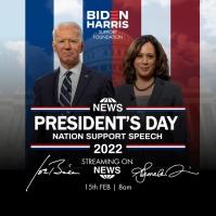 President Biden Speech 2021 Template Instagram 帖子