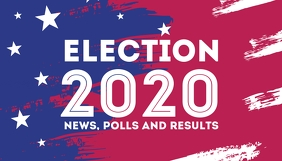 President campaign Election 2020 blog header template