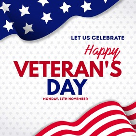 president day, Veteran's day Message Instagram template
