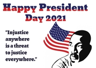 President Day Carte postale template