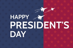 President day poster template