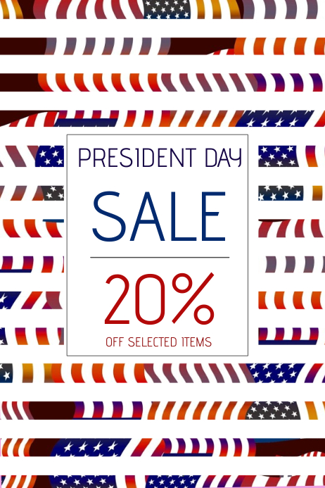 president day sale poster template