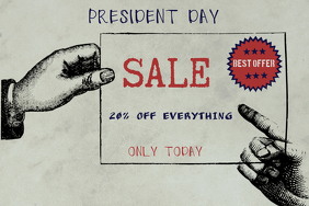 president day sale poster template landscape