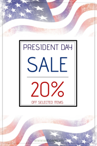 president day sale poster template Cartaz