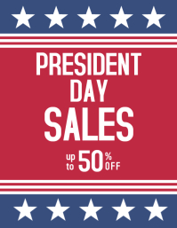 President Day sales advertisement flyer