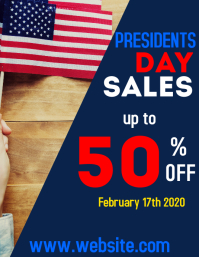 President day sales flyer advertisement