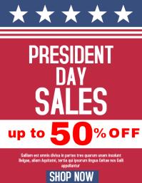 President Day sales flyer advertisement flyer