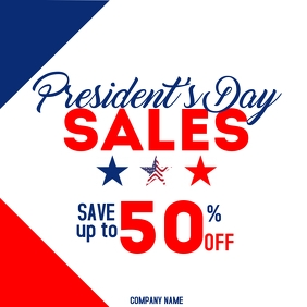 President day sales instagram post