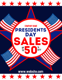 President day sales up to 50 % off Pamflet (Letter AS) template