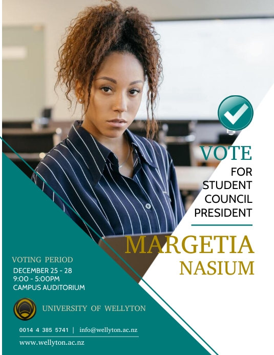 copy of president election flyer template