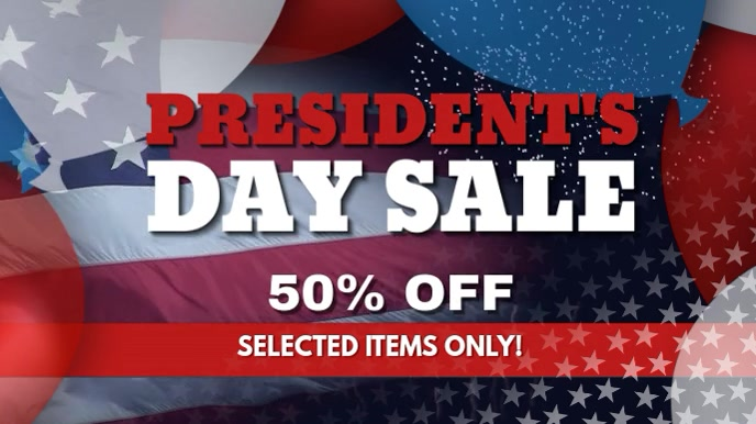 President's Day Digital Display Video template