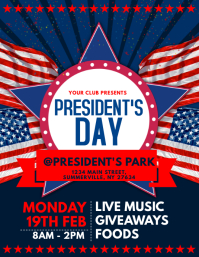 President's Day Flyer Pamflet (VSA Brief) template