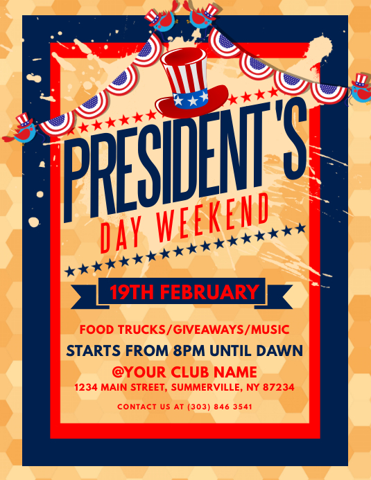 President's Day Flyer Volantino (US Letter) template
