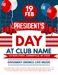 President's Day Flyer template