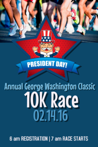 President's Day Race Póster template