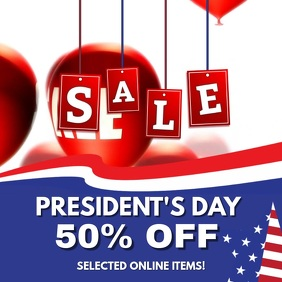 President's Day Sale Facebook Video Template